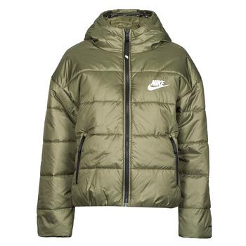 vaatteet Naiset Toppatakki Nike W NSW TF RPL CLASSIC HD JKT Khaki / Valkoinen