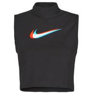 vaatteet Naiset Hihattomat paidat / Hihattomat t-paidat Nike W NSW TANK MOCK PRNT Musta