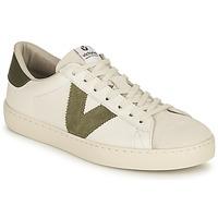 kengät Naiset Matalavartiset tennarit Victoria BERLIN PIEL CONTRASTE Valkoinen / Khaki