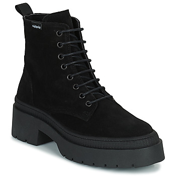 kengät Naiset Bootsit Victoria CIELO SERRAJE Musta