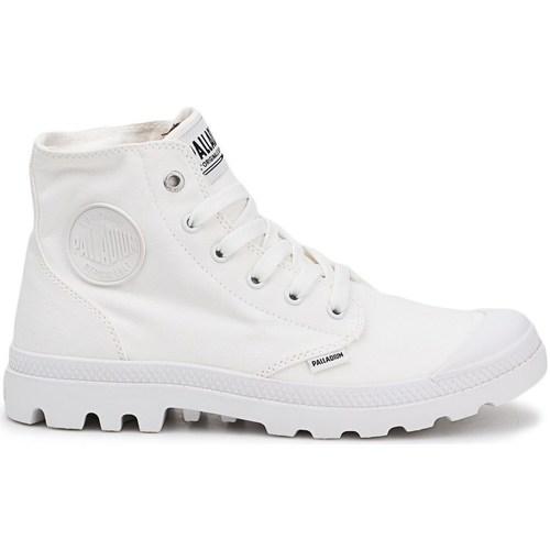 kengät Miehet Korkeavartiset tennarit Palladium Manufacture Pampa HI Valkoiset