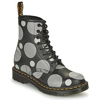 kengät Naiset Bootsit Dr Martens 1460 Valkoinen / Harmaa