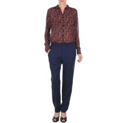 vaatteet Naiset Väljät housut / Haaremihousut Marc O'Polo ALBA Blue / Fonce / Red
