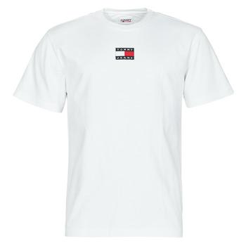 vaatteet Miehet Lyhythihainen t-paita Tommy Jeans TJM TOMMY BADGE TEE Valkoinen