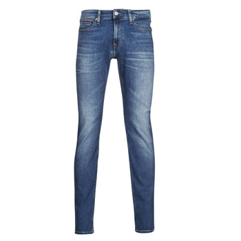 vaatteet Miehet Slim-farkut Tommy Jeans SCANTON SLIM AE136 MBS Sininen