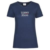 vaatteet Naiset Lyhythihainen t-paita Tommy Jeans TJW SKINNY ESSENTIAL TOMMY T SS Laivastonsininen