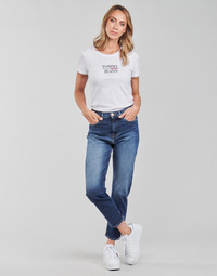 vaatteet Naiset Suorat farkut Tommy Jeans IZZIE HR SLIM ANKLE AE632 MBC Laivastonsininen