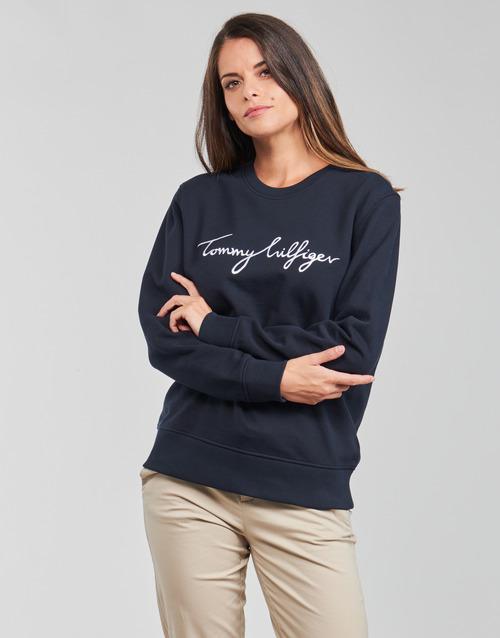 vaatteet Naiset Svetari Tommy Hilfiger REGULAR GRAPHIC C-NK SWEATSHIRT Laivastonsininen