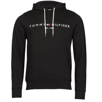 vaatteet Miehet Svetari Tommy Hilfiger TOMMY LOGO HOODY Musta