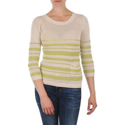 vaatteet Naiset Neulepusero Marc O'Polo ESTER White / Yellow