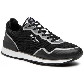 kengät Miehet Matalavartiset tennarit Pepe jeans Cross 4 Knit Musta
