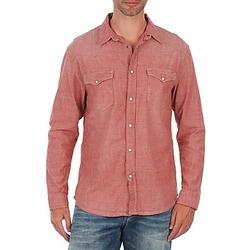 vaatteet Miehet Pitkähihainen paitapusero Selected Doha shirt ls r J Red