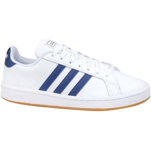 kengät Miehet Matalavartiset tennarit adidas Originals Grand Court Base Valkoiset, Vaaleansiniset