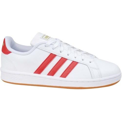 kengät Miehet Matalavartiset tennarit adidas Originals Grand Court Base Valkoiset, Punainen