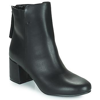 kengät Naiset Nilkkurit The Divine Factory LH2268 Musta