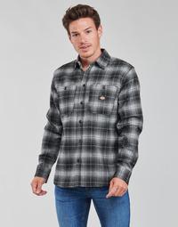 vaatteet Miehet Pitkähihainen paitapusero Dickies EVANSVILLE LS Musta