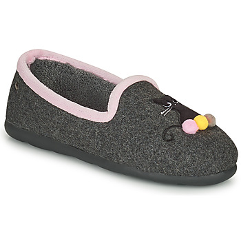 kengät Naiset Tossut Isotoner 97311 Harmaa / Vaaleanpunainen