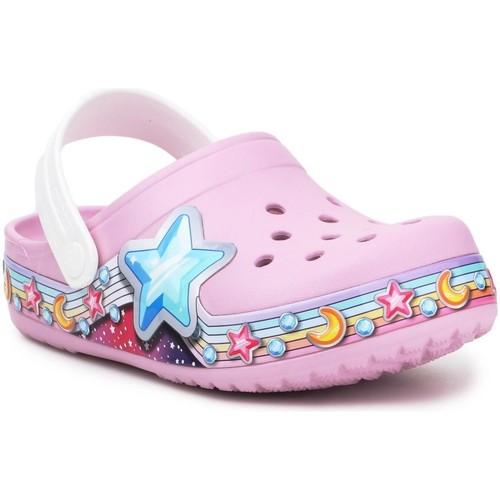 kengät Tytöt Puukengät Crocs FL Star Band Clog 207075-6GD purple