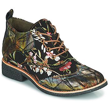 kengät Naiset Bootsit Laura Vita COCRALIEO Musta / Vihreä / Vaaleanpunainen