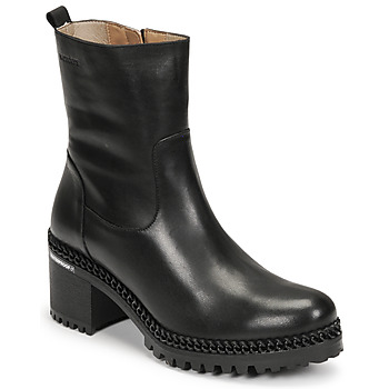 kengät Naiset Nilkkurit Wonders H-3932 Musta