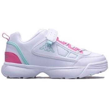 kengät Lapset Matalavartiset tennarit Kappa Rave MF K Valkoiset, Vaaleanpunaiset