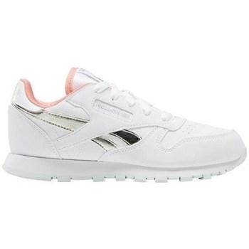 kengät Lapset Matalavartiset tennarit Reebok Sport CL Lthr Valkoiset