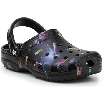 kengät Lapset Puukengät Crocs Classic Out OF This World II Clog Mustat
