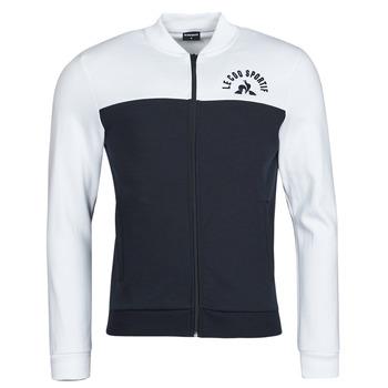 vaatteet Miehet Ulkoilutakki Le Coq Sportif SAISON 2 FZ SWEAT N 1 Laivastonsininen / Valkoinen