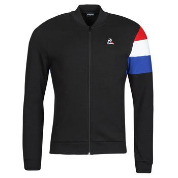 vaatteet Miehet Ulkoilutakki Le Coq Sportif TRI FZ SWEAT N 1 M Musta