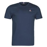 vaatteet Miehet Lyhythihainen t-paita Le Coq Sportif ESS TEE SS N 3 M Laivastonsininen