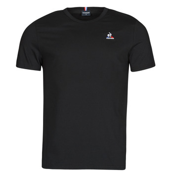 vaatteet Miehet Lyhythihainen t-paita Le Coq Sportif ESS TEE SS N 3 M Musta