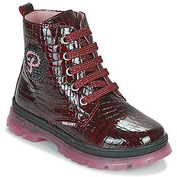 kengät Tytöt Bootsit Pablosky 404167 Viininpunainen