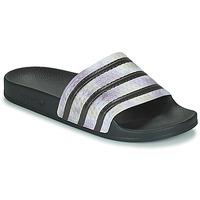 kengät Naiset Rantasandaalit adidas Originals ADILETTE Musta / Hopea