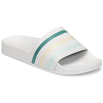 kengät Naiset Rantasandaalit adidas Originals ADILETTE Valkoinen / Vihreä / Vaaleanpunainen