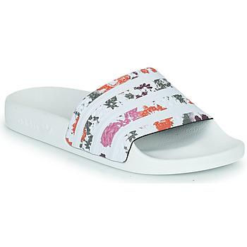 kengät Naiset Rantasandaalit adidas Originals ADILETTE W Valkoinen / Fleurs