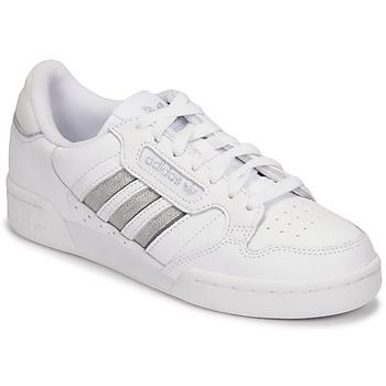 kengät Naiset Matalavartiset tennarit adidas Originals CONTINENTAL 80 STRI Valkoinen / Hopea