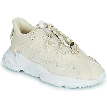 kengät Naiset Matalavartiset tennarit adidas Originals OZWEEGO PLUS W Beige