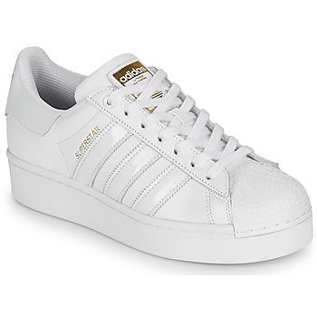 kengät Naiset Matalavartiset tennarit adidas Originals SUPERSTAR BOLD W Valkoinen