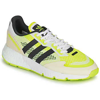 kengät Miehet Matalavartiset tennarit adidas Originals ZX 1K BOOST Valkoinen / Keltainen