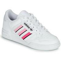 kengät Tytöt Matalavartiset tennarit adidas Originals CONTINENTAL 80 STRI J Valkoinen / Vaaleanpunainen