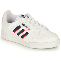 kengät Lapset Matalavartiset tennarit adidas Originals CONTINENTAL 80 STRI C Valkoinen / Sininen