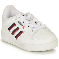 kengät Lapset Matalavartiset tennarit adidas Originals CONTINENTAL 80 STRI I Valkoinen / Sininen