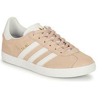 kengät Tytöt Matalavartiset tennarit adidas Originals GAZELLE J Vaaleanpunainen