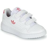 kengät Tytöt Matalavartiset tennarit adidas Originals NY 90  CF C Valkoinen / Vaaleanpunainen