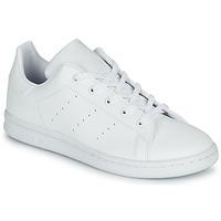 kengät Lapset Matalavartiset tennarit adidas Originals STAN SMITH C Valkoinen