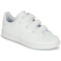 kengät Lapset Matalavartiset tennarit adidas Originals STAN SMITH CF C Valkoinen
