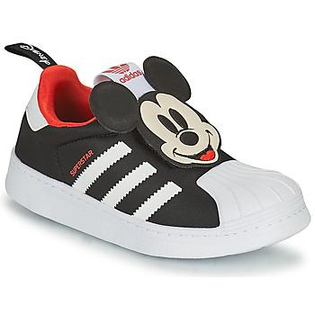kengät Pojat Matalavartiset tennarit adidas Originals SUPERSTAR 360 C Musta / Mickey
