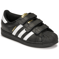 kengät Lapset Matalavartiset tennarit adidas Originals SUPERSTAR CF C Musta / Valkoinen