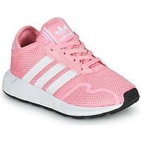 kengät Tytöt Matalavartiset tennarit adidas Originals SWIFT RUN X C Vaaleanpunainen