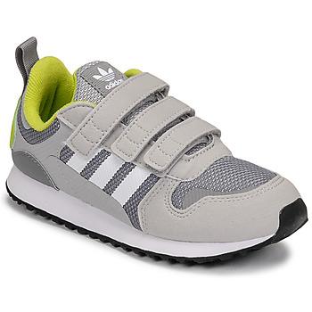 kengät Pojat Matalavartiset tennarit adidas Originals ZX 700 HD CF C Harmaa / Vihreä